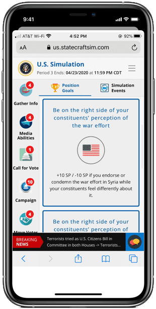 Statecraft Foreign Policy Phone Screen