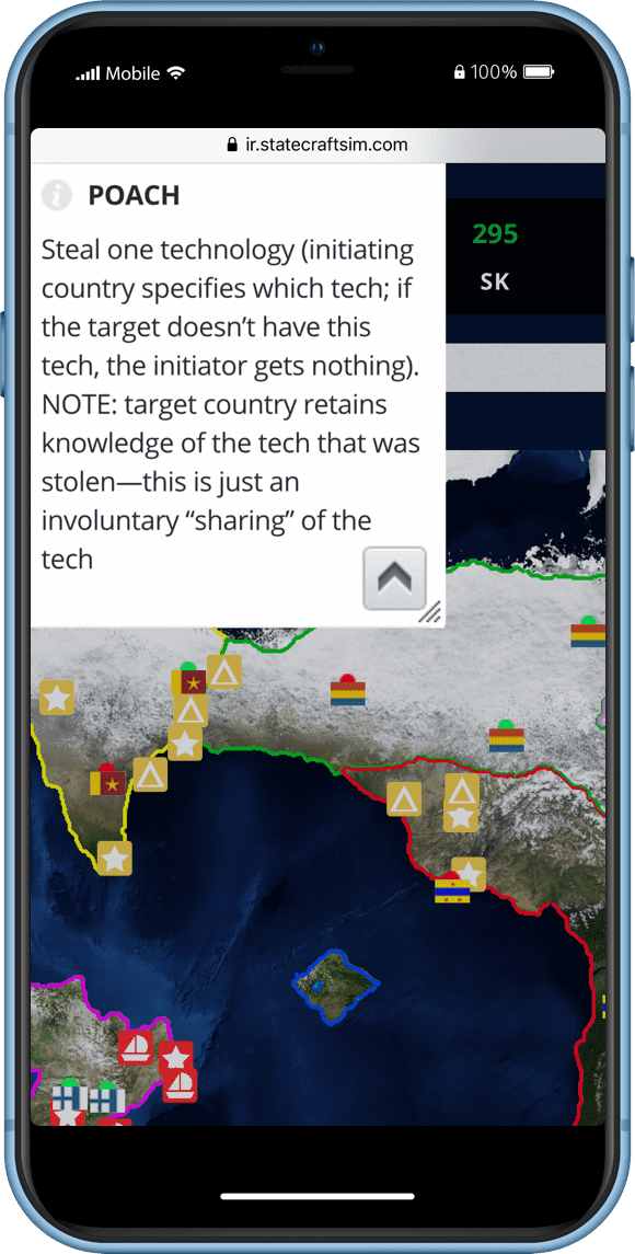 Statecraft International Security Simulation Screen
